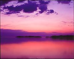 Past midnight (Steinskog) Tags: askøy herdla pentax67ii velvia50 analogue norway fujifilm mediumformat velvia summer night sunset sea 105mmf24