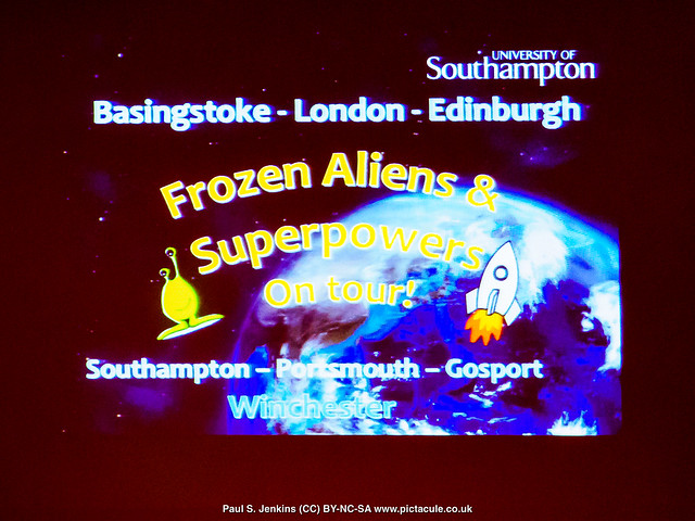 Frozen Aliens and Superpowers - Dr Jess Spurrell at Winchester Skeptics, 31 May 2018