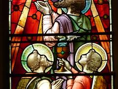 Church - Llandudno, Holy Trinity 180424 [Stained Glass Window 1c] (maljoe) Tags: church churches llandudno llandudnoholytrinity holytrinity stainedglass stainedglasswindow stainedglasswindows