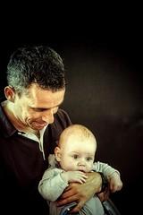 Baptême d'Alexandre... (Isa-belle33) Tags: children enfant kid boy garçon papa dad daddy man homme love amour fujifilm baby bébé