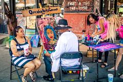 Group Art (rg69olds) Tags: 06102018 35mm 5dmk4 canoneos5dmarkiv nebraska sigma35mmf14artdghsm artfestval canon downtown oldmarket omaha sigma art streetart street artist painting group portrait sidewalk 35mmf14dghsm|a