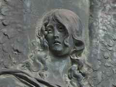 grieving angel (verona39) Tags: angel grief bronze mausoleum door cemetery