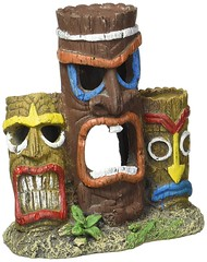 3 piece tiki head aquarium decor (mywowstuff) Tags: gifts gadgets cool family friends funny shopping men women kids home