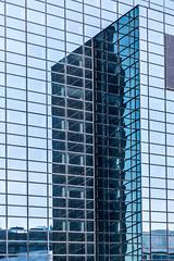 Rotterdam reflections (cstevens2) Tags: nederland rotterdam zuidholland thenetherlands architecture reflections travel blue architectuur reizen blauw skyscraper building window lines sky geometric gebouw glass sundaylights