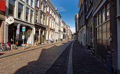 Winestreet In The Sun (Alfred Grupstra) Tags: street architecture europe urbanscene city buildingexterior town history builtstructure outdoors old famousplace facade cultures citylife cityscape store tourism cobblestone house