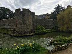 The Moat! (springblossom3) Tags: somerset bishops palace garden english tourism city wells history ruins