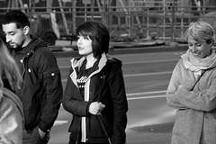 3-3 Candids 21 (TheseusPhoto) Tags: blackandwhite monochrome people candid streetphotography street city citylife woman blancoynegro sanfrancisco marketstreet