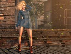 Wind And Sun In My Hair (Ada Forwzy | SL Fashion News) Tags: second life sl virtual world game blog blogger revoul exile shoes hair blonde mesh wind salt coat denim new news fashion woman city mila pose