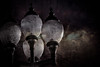 Still of the night (Barb Henry) Tags: night lights street luminosity shine electric retro victorian grunged artwork layered texture albany or