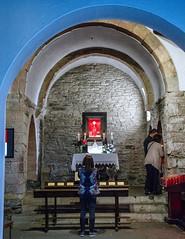 Capilla / Chapel (López Pablo) Tags: chapel church religion candle blue red people galicia wayofsaintjames spain nikon d7200