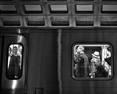Windows (dr_scholz@ymail.com) Tags: metro subway indoors blackwhite blackandwhite window transportation publictransportation concrete dark light people leicam240 summicronm28mmf2asph