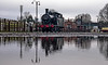 Forelorn, but not forgotten (Peter Leigh50) Tags: great central railway quorn station yard puddle fujifilm fuji xt10 jinty 47406 reflection reflections gcr train engine locomotive lms