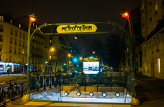 Hector Guimard-Designed Metro Stop (Ed Newman) Tags: paris metro raspail montparnasse hectorguimard france subway signs artnouveau