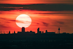 Liverpool Sunset (ianbonnell) Tags: liverpoolanglicancathedral liverpool sunset merseyside frodsham frodshamhill cityscape skyline