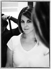 these eyes.....in the mirror (racing.mike) Tags: photoshoot mirror bw monochrome woman girl eyes olympus omdm5 m43