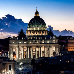 St. Peter's Basilica (ravalli1) Tags: roma italia stpeters basilica religion tramonto sunset art rome sanpietro renaissance vaticano churches