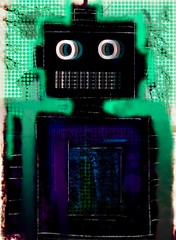 cajole (Boogey Man) Tags: popculture contemporaryart modernart wacom scifi robots painting illustration popart georgia digital diy artwork artist art