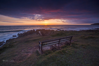 The sun sets at Terry`s bench.
