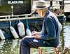 The Artist (Hodd1350) Tags: christchurch dorset christchurchquay fenders capnpugwash drawing sitting water hat seated sony a7rlll sonyfe70300 boat name buoyant