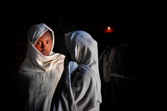 Lalibela, Ethiopia (Neal J.Wilson) Tags: lalibela ethiopia africa women churchofstgeorge pilgrims africans christianity moody moods light travel shadow atmospheric girls