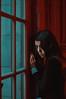 """La maldad está fuera"" // ""Evil is out"" (Kathy Chareun) Tags: red rojo art arte fineart autoretrato autorretrato selfportrait woman mujer evil mal maldad wall pared window ventana eye ojo old antiguo ps photoshop lr lightroom photography fotografia photographie dress vestido femme girl chica negro green verde picture movie pelicula hair pelo face cara"