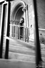 Epiphany Catholic Church (iecharleton) Tags: epiphanycatholicchurch architecture door church pittsburgh pennsylvania city urban steps brick blackandwhite monochrome