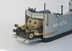 Desert Sea: H - 474 (W. Navarre) Tags: lego boat ship wwii battle sea desert