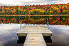Autumn Reflection (PIERRE LECLERC PHOTO) Tags: autumn fall reflection lacmodene lake mauricie nationalpark mauricienationalpark canada quebec troisrivieres foliage colors trees forest woods wilderness season october automne saison parc island mapletrees dock pinetrees eastcoast outdoors nature landscape photography water still colorful favorites bestlandscapes amazinglandscapes travel pierreleclercphotography