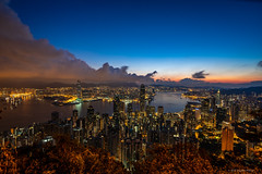 Sunrise View from Victoria Peak (Joachim Wuhrer) Tags: joachimwuhrer hongkong victoriapeak peak sunrise summer asia holiday harbour sony sonya7iii a7iii