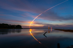 Early Morning Launch (Chuck - Thanks for the 1M Views!!!) Tags: 2018 5dmkiv antareslaunch canon landscape night nightscape orbitalatk photosbymch reflection rocketlaunch usa virginia wallopsisland chincoteague oysterva antaresrocket cygnus longexposure outdoors clouds water stars nasa startrails singleexposure