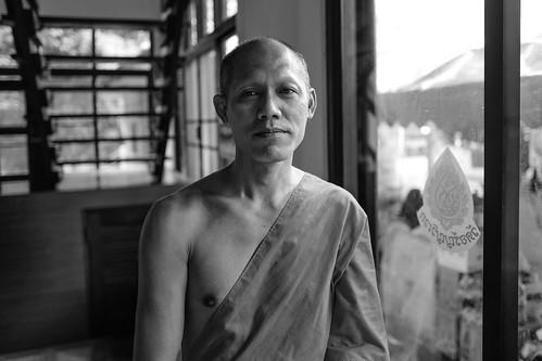 Visiting monk, Wat Aranyawiwek, Chiang Mai