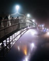 Ha'Penny Bridge, Dublin (Deirdre Hayes) Tags: bridge dublin fog hapenny travel