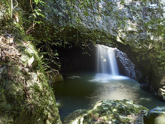 Outside Cave plunge pool (Lesmacphotos) Tags: waterfall qld australia tourist tourism tour holiday nationalpark nature water discoveraustralia