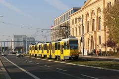 2015-10-31, Berlin, Invalidenstrasse (Hauptbahnhof) (Fototak) Tags: tram strassenbahn berlin bvg germany tatra kt4d lignem8 6034 6093