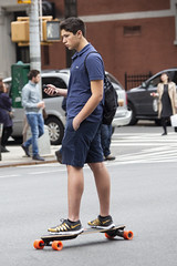 094A8164 v2 (Wheels Down) Tags: skateboard shorts backpack legs sneakers nyc streetphotography candid profile