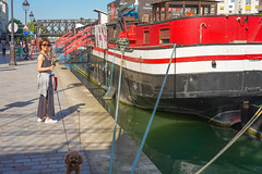 Canal Saint Martin (jmarnaud) Tags: france paris 2018 spring people walk city street water canal saint martin boat colors akiko chocolat