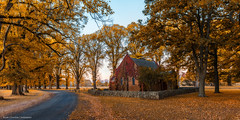 Colour Palette (...Kush...) Tags: gostwyck gostwyckchapel nsw newsouthwales australia country countryroad autumn colour trees chapel sunrise sunset palette nikon orange fallcolours armidale newengland