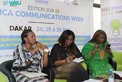 Marie-Claude Nguémo (Epignosis), Garmy Sow (UVS), Mariam Tendou (Madame Digital) (watudigital) Tags: africacommunicationsweek wàtudigitallab dakar média afrique expressosénégal performance numérique