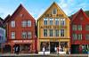 Norway: Bergen, Bryggen houses (Henk Binnendijk) Tags: bergen norway noorwegen tyskebryggen bryggen hanseatic hordaland fisk husflid alfredskulstad norge architecture