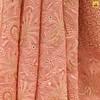 Pure Georgette Peach Saree (Adachikan) Tags: addons mukaish parsi chikankari chikan saree puregeorgette pure zardozi