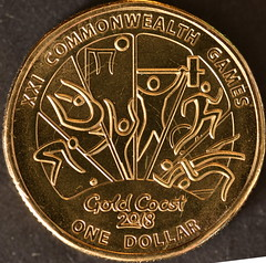 Commonwealth Games Gold Coast Australia 2018 $1[3 of 7 coins] (Dreaming of the Sea) Tags: australia currency money gold commonwealthgames goldcoast queensland 2018 1 21st