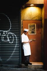 Cigarette Break (zdfs) Tags: sanfrancisco california chinatown cigarette nightshot