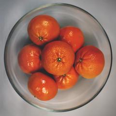 15 / 52 : 2 (Randomographer) Tags: 52weeks glass orange cuties mandarin citrus reticulata mandarine tangerine sweet delicious nutritious organic fruit food vitamin c bowl natural round edible skin stem 50mm prime indoor