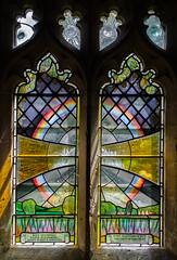 Salehurst, St Mary's church window (Jules & Jenny) Tags: salehurst eastsussex stmaryschurch stainedglasswindow