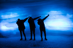 A Dab in the ice cave (^Diana^) Tags: ice cave iceland glacier 4448a dance dab dabbing three trio glacierlangjokull frozen arctic melting reykjavik