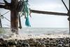 Eastbourne Pier underneath (Rudi G.) Tags: eastbourne pier england water welle wave tau gerüst stange steine stones shore beach