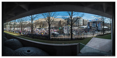 A view from the National Gallery of Art (GAPHIKER) Tags: nationalgalleryofart eastbuilding marchforourlives rally gun protest guncontrol pano stage crowd washington washingtondc pennsylvaniaave street
