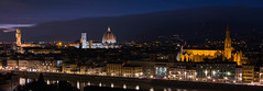 View of Florence from Piazza Michaelangelo 9-1158 (jdl1963) Tags: travel tuscanny florence firenze river arno vecchio palazzo cattedrale di santa maria basilica del fiore duomo cathedral church dusk twilight night italy croce