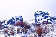 Winter wall in a whiteout (Amanda_Woo) Tags: winterwonderland thegreatoutdoors cumbria lakedistrict redgrass winter snow drystonewall