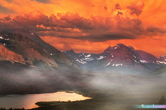 Misty Morning at East Glacier National Park *A Beautiful Nature* (iLOVEnature's Photography Inspiration) Tags: mistymorningateastglaciernationalpark abeautifulnature misty fog foggy mist clouds cloud cloudscape sky morning dawn sunrise lake lakeview water glacier glaciernationalpark east montana us usa mountain view nature landscape macro orange new sunset sea